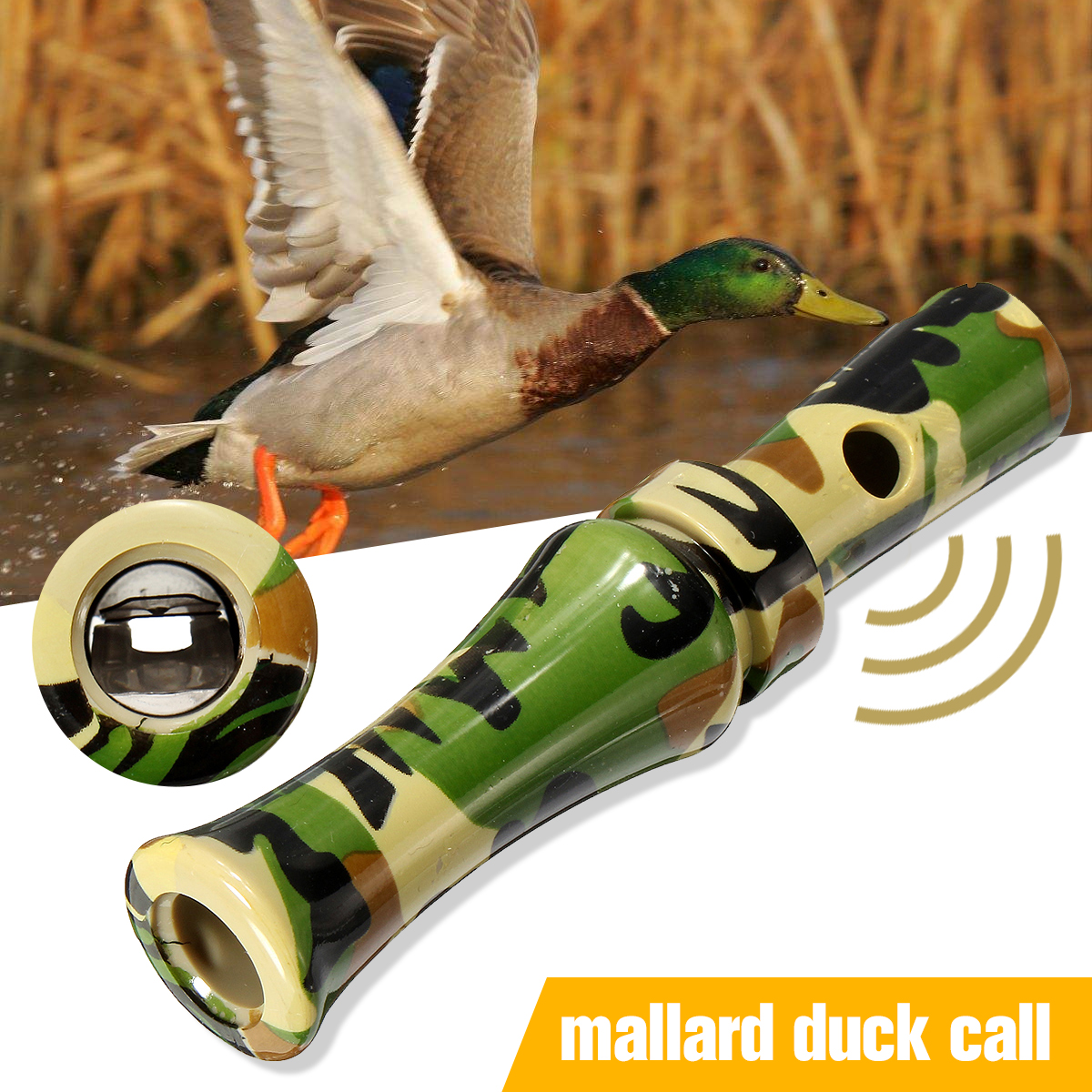 SGODDE Plastic Camouflage Duck Pheasant Mallard Hunting Call Caller Hunting Decoys Entice Wild Duck Closer for a Better Shot