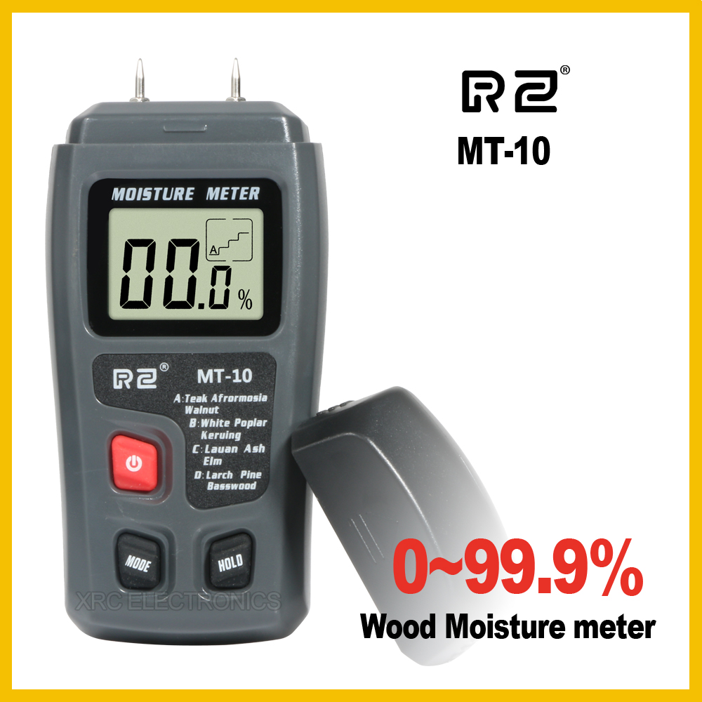 RZ MT10 EMT01 Portable Wood Moisture Meter Hygrometer Timber Tree Density Digital Electrical Tester Measuring tool high precision digital electric moisture meter wood timber plank humidity moisture content tester gauge with 11mm probe vc2ga