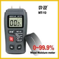 RZ MT10 EMT01 Portable Wood Moisture Meter Hygrometer Timber Tree Density Digital Electrical Tester Measuring tool