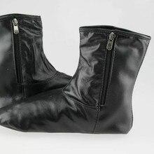 Unisex Müslüman Namaz Çorapları Siyah İslam Dua Sıcak Zemin Deri Kadife Çorap Erkek Çorap Deri Calcetines Hombre İslam Erkekler
