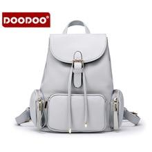 DOODOO Дизайнер Модного бренда Женщины Натуральная Кожа Рюкзак Старинные женщины рюкзак Дизайнерский Бренд Школьные Сумки горячая T280