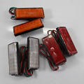 Rectangular type 2 *LED Reflector Tail Brake Stop Marker Light Truck Trailer RV ATV Motorcycle