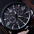 CURREN military men watch sports watch men army military wrist watches leather strap male quartz wristwatches relogio masculino