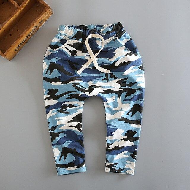 2016 primavera Venta caliente camuflaje harem pantalones niños muchacha del  muchacho del algodón de la manera b75283ea3a7