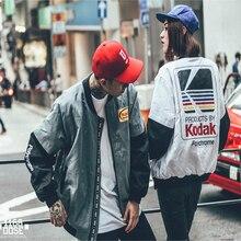 Mujeres hombres abrigo marca baseball clothing prendas de vestir exteriores de estilo japonés harajuku chaqueta de piloto de la calle harajuku impresión ma1 bomber jacket