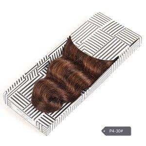 Image 4 - Гладкие цветные волосы для наращивания, двойные нарисованные натуральные волнистые волосы, бразильские волнистые натуральные кудрявые пучки волос Remy, человеческие волосы