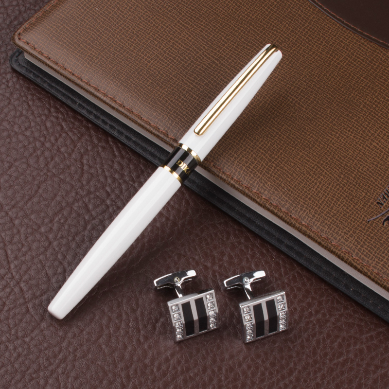 High Quality  luxury Metal novelty Roller Ball Pen Writing  Office School Supply Business Gift Cufflinks Gift box high quality metal roller ball pen jujube red ink refill black office luxury writing cute pens gift box gel pens and cufflinks