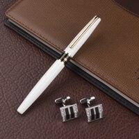 New 0 7mm High Quality Brand Metal Roller Ball Pen Writing Business Gift Cufflinks Office School