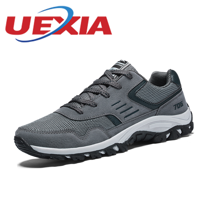 Outdoor Sport Walking Mesh Shoes For Men Lace Up Breathable Mountain Shoes Mens Trainers Casual Comfortable Zapatillas Hombre стоимость