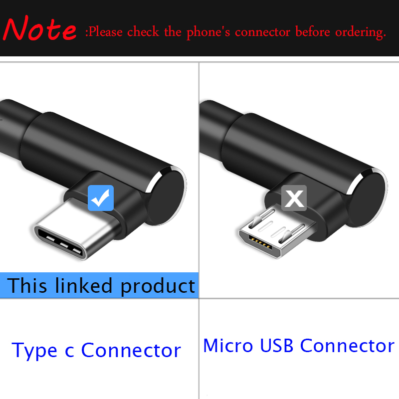 USB Type C Cable,Suntaiho L-Shaped USB C Cable for Xiaomi mi9  Fast Charger Data Cable for Huawei P20 Pro Samsung Galaxy S9 S8