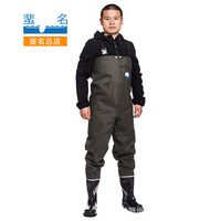 Waterproof clothing thick wear resistant water pants fishing hunting tourism adventure wading mine oil field supplies men