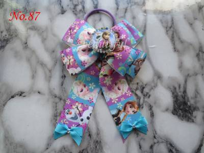 """16pcs 6.5"""" Big Sequin Cheer Bows With Clips Hand Made Bling Girl's Cheerleading Hair Bow Hair Accessories For Long Free Shipping"""