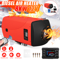 8KW Air Diesel Heater 12V Car Parking Heater With Remote Control LCD Monitor Car Heater Truck Boat Van RV Bus Heating Machine