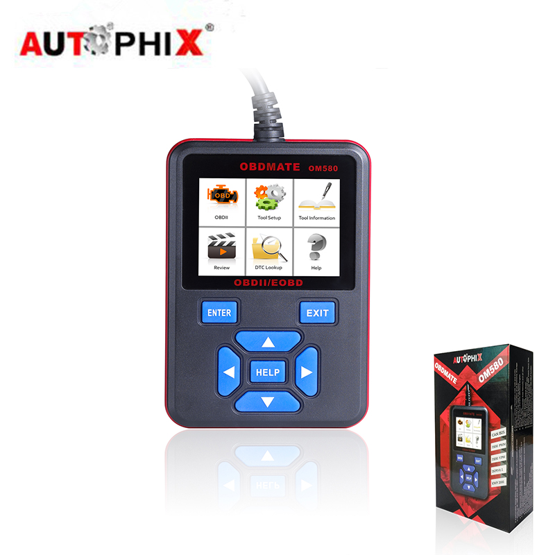 Autophix OM580 OBD2 Scanner Automotive Diagnostic OBD2/EOBD Car Code Reader OM500 OBDII Scan Tool Escaner Automotriz u480 1 5 lcd universal can bus obd2 car diagnostic code reader memo scanner
