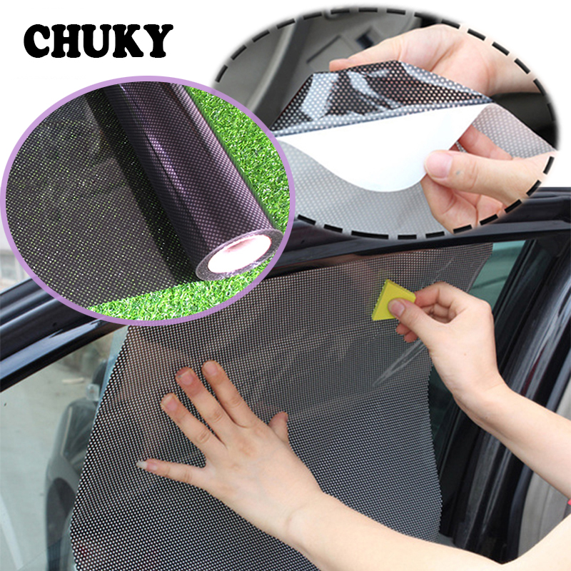 CHUKY Car Styling Static Electricity Sticker Shade Covers For BMW E46 E39 E60 E90 E36 F30 F10 X5 E53 E34 E30 Mini Cooper Lada image
