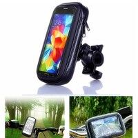 Novo suporte do telefone celular da bicicleta da motocicleta suporte de montagem para samsung iphone gps moto titular caso à prova dwaterproof água saco