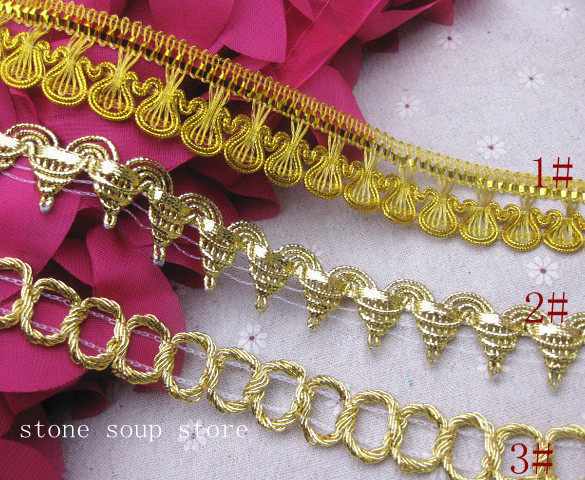 6yards Gold silver Thread Rayon Lace Garment Curtain Accessories Diy  Handmade Decor Fringe Lace Trim 9d7cd87045b9