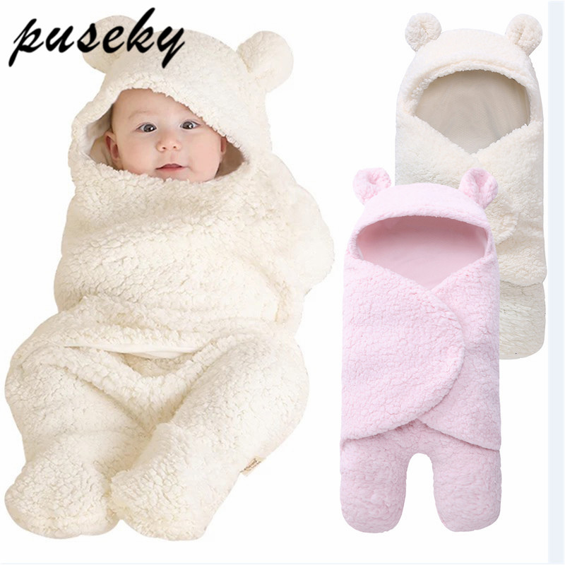 2019 Baby Blanket Newborn Baby Swaddle Wrap Soft Winter Baby Bedding Receiving Blanket Manta Bebes Sleeping Bag 0-12M Newborns