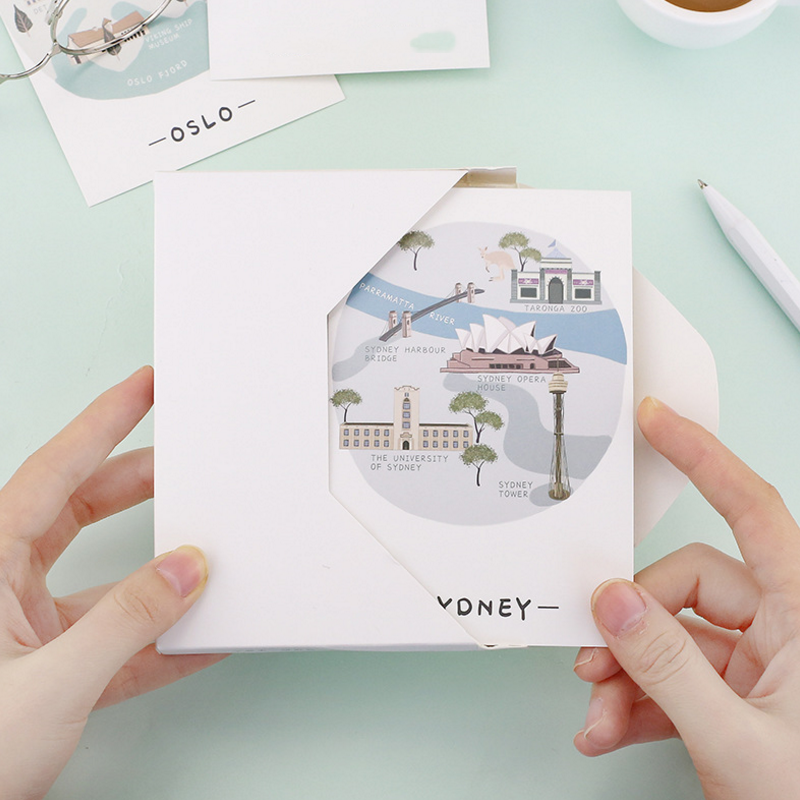 30 Pcs/Set Hot sale Novelty City Travel Diary Postcard /Greeting Card/Message Card/Christmas and New Year gifts