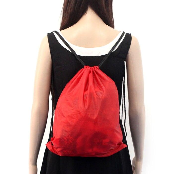 Backpack Shopping Drawstring Bags Travel Beach Nylon Drawstring Cinch Sack Sport Beach Travel Outdoor Backpack Bags