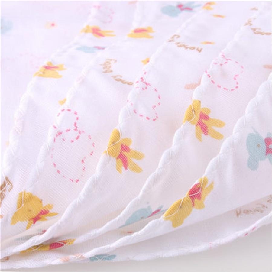 0-3 Baby Newborn Cartoon Bath Towel Soft Handkerchief Animal Breathable Wipes 1 Pair Baby Feeding Towel For Babies 70A0173