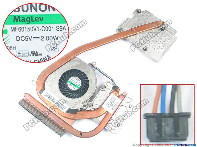 Free Shipping For SUNON 690629-001, 690630-001, 46010AQ00-600-G DC 5V 2.00W 4-wire 4-pin connector Heatsink with Fan emco мыльница emco vara 4230 001 00
