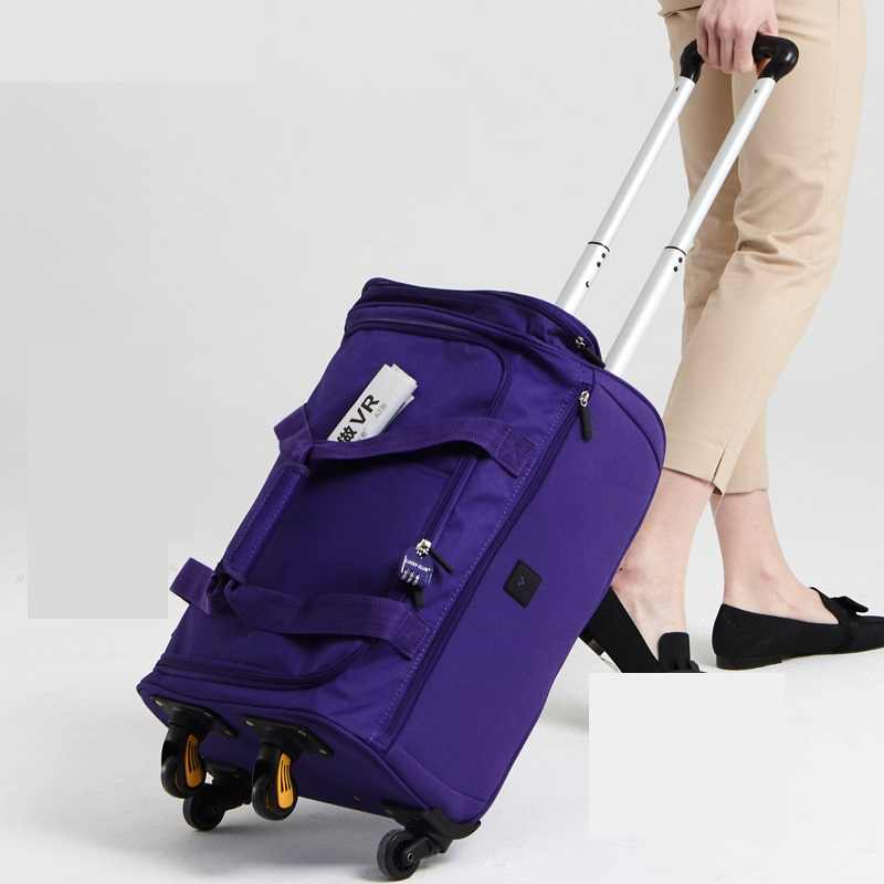 New Fashion 18/20/22 inch Backpack Spinner Travel Bag Casters Trolley Carry On Wheels Women Multi-function Bag