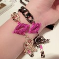 2014 Fashion Europe&USA Style Hot Sell Crystal Metal Bracelet Clip Charm Bracelet For Women S013