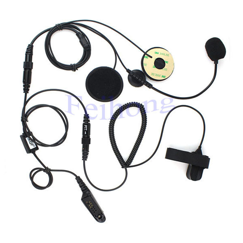 Professional Motorcycle Helmet Headset Earpiece for MOTOROLA Two Way Radio  GP328 GP338 GP340 GP380 Walkie Talkie