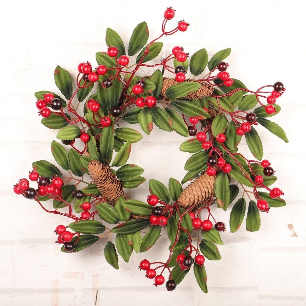 Diy Flower Garland: Festival Thanksgiving Day Pine Flower Garland DIY