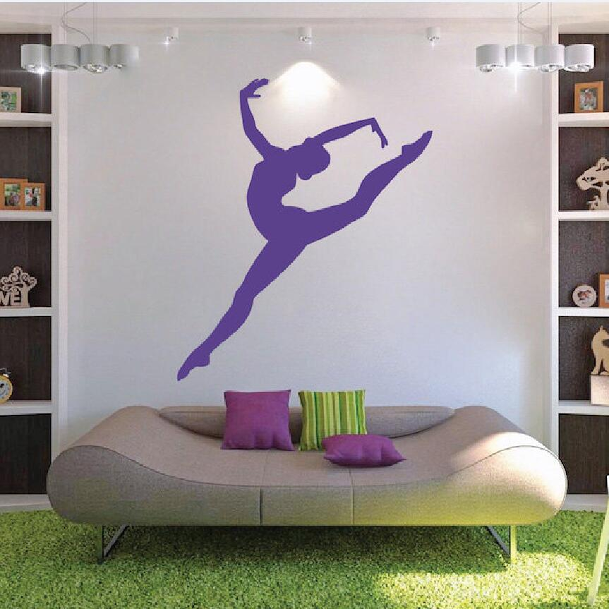 Ballerina Wall Decal Gymnastics Signs Ballet Dancer Vinyl Sticker Home Decor For Girl Bedroom Removable Decoration Mural Eb258 Wall Stickers