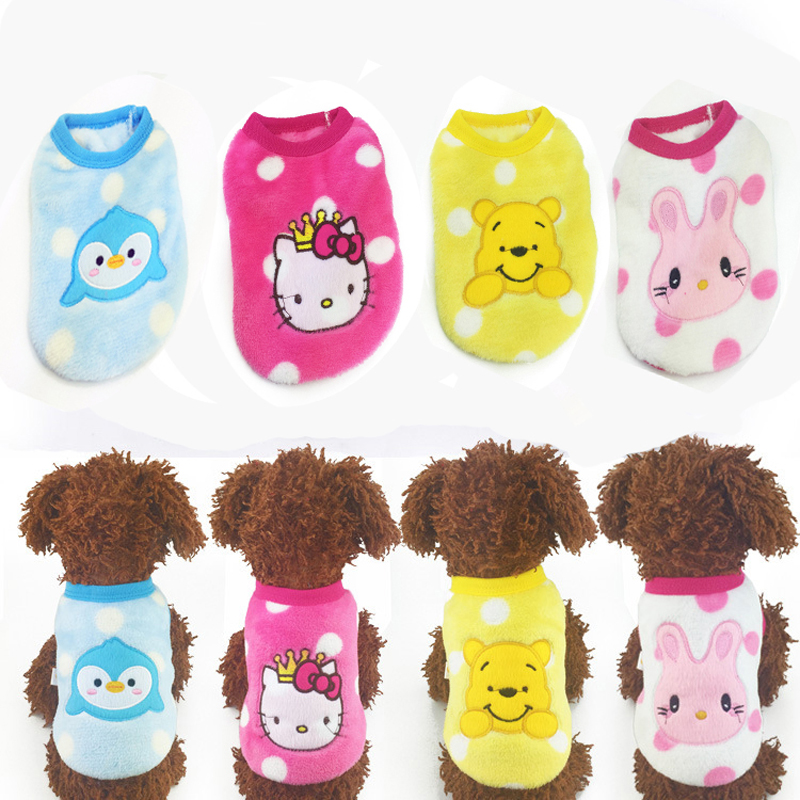 3973aa605160 Free Shipping XXXS/XXS/XS New Cute Cartoon Animal Puppy Winter Warm Thick  Sweaters Baby Pet Clothes Teacup Dogs Clothing