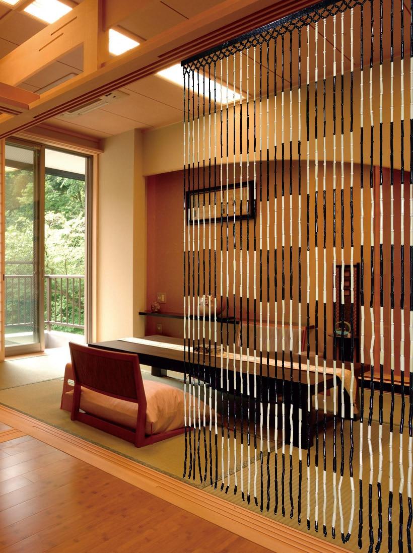 mode de perles de bambou porte rideau feng shui rideau chinois vestibule rideau taille 90x180 cm 31 chaine