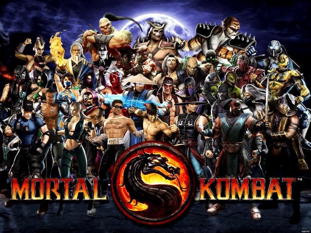 Mortal Kombat 9 Characters Art wall print poster 24
