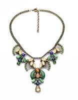 New Arrival Necklace 2014 Resin Glass Zinc Alloy Wholesale Statement 3 Colors Vintage Gem Party Pendant Necklace