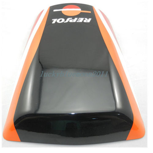 New Black Orange Rear Seat Cover Cowl for HONDA CBR 900RR 929 2000-2001 for ktm 390 duke motorcycle leather pillon passenger rear seat black color