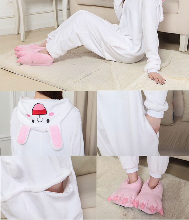 6Kigurumi Brown Bear Onesie Slippers Women Men Adult Animal Costume Cartoon Pajama Funny Festival Party Fancy Suit  (7)