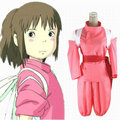 Chihiro Ogino Cosplay Costumes Japanese Anime Spirited Away Free Shipping (Top + Pants + Waistband)