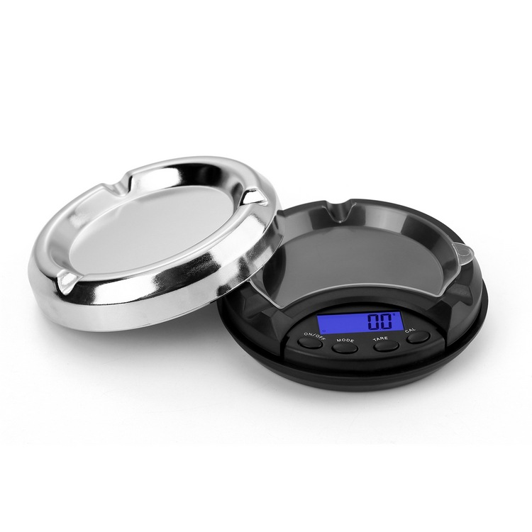 Ashtray Electronic Mini Scale Compact Digital Back-lit LCD Gold Jewelry Weighing