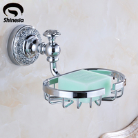 Wholesale And Retail Chrome Polished Solid Brass Bathroom Soap Holder Bathroom Accessories Wall Mounted