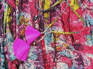 Image 4 - 送料無料 2020 新長期マキシ a ライン弾性ウエスト女性秋夏の綿とリネンスカートプラスサイズ S 2XL 印刷スカート