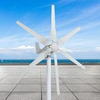 Лучшая цена ветряной генератор 12 В/24 В/48 В 500 Вт 6 лезвия автоматической настройки горизонтального ветра главная ветра Мощность генератор ту