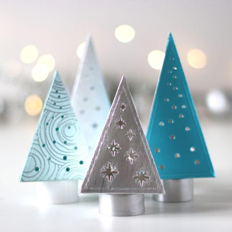 Купить с кэшбэком 2pcs/Set 3D Xmas Trees Box Metal Cutting Dies Stencils for DIY Scrapbooking Paper Cards Making Handmade Crafts Decoration New