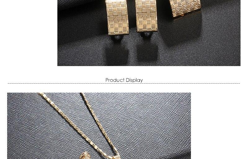 AYAYOO African Beads Jewelry Set 2018 Nigerian Wedding Women Jewelry Set Dubai Gold Color Vintage Bridal Necklace Set (3)