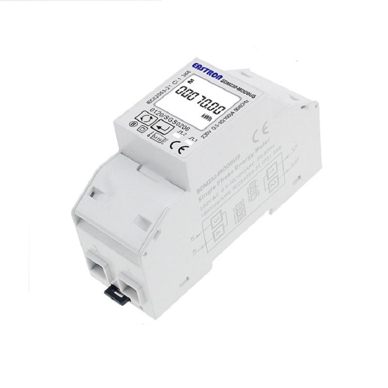 Sdm230modbus Rail Compteur D'énergie Miniature Multifonctionnel 10A Affichage Numérique Unique-Phase RS48