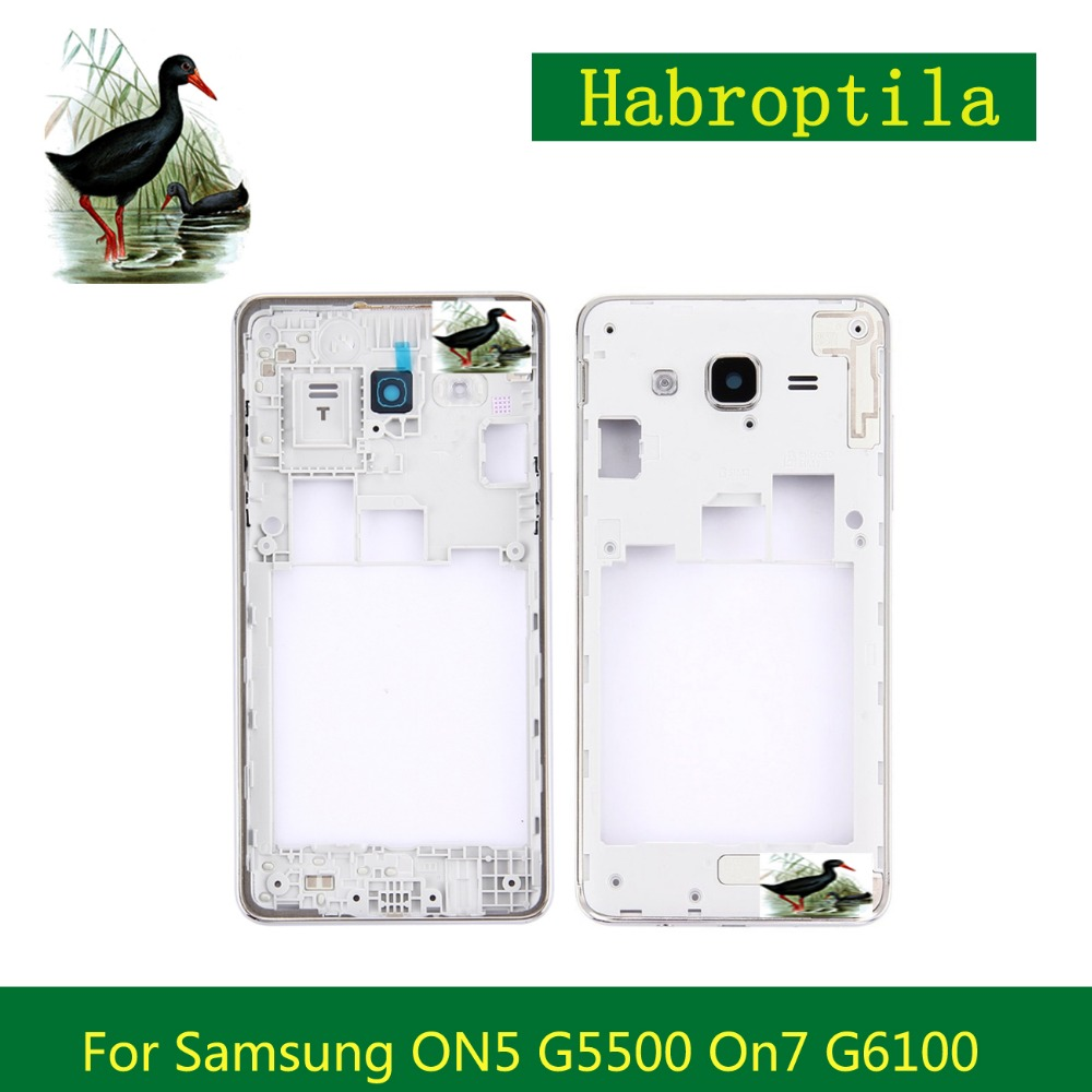 For Samsung Galaxy J5 Prime ON5 G5500 J7 Prime On7 G6100 Middle Frame Middle Housing Replacement Screen Plate Bezel Repair Parts