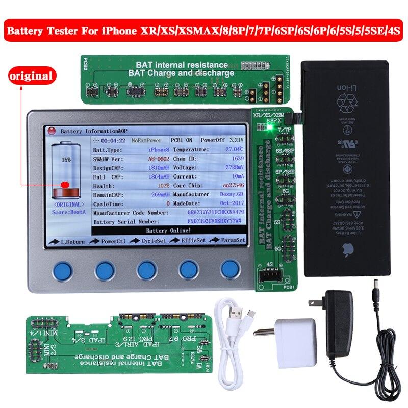 Nouveau testeur de batterie Apple iPhone pour iPhone XR XS XS MAX X 8 8 P 7 7 P 6 S 6SP 6 6 P 5 5 S 4 S contrôleur de batterie une clé Cycle clair