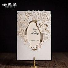 Wishmade White Mirror Frame Wedding Invitations Elegant