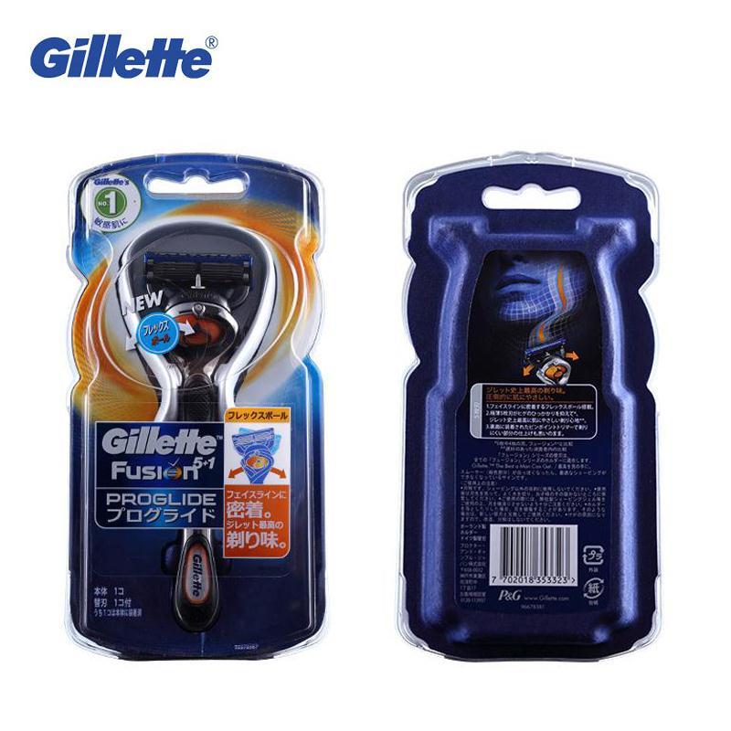 Genuine Gillette Fusion Proglide Razors Flex Ball Brand Shaving Machine Washable Shavers for Men Face Care in Razor from Beauty Health