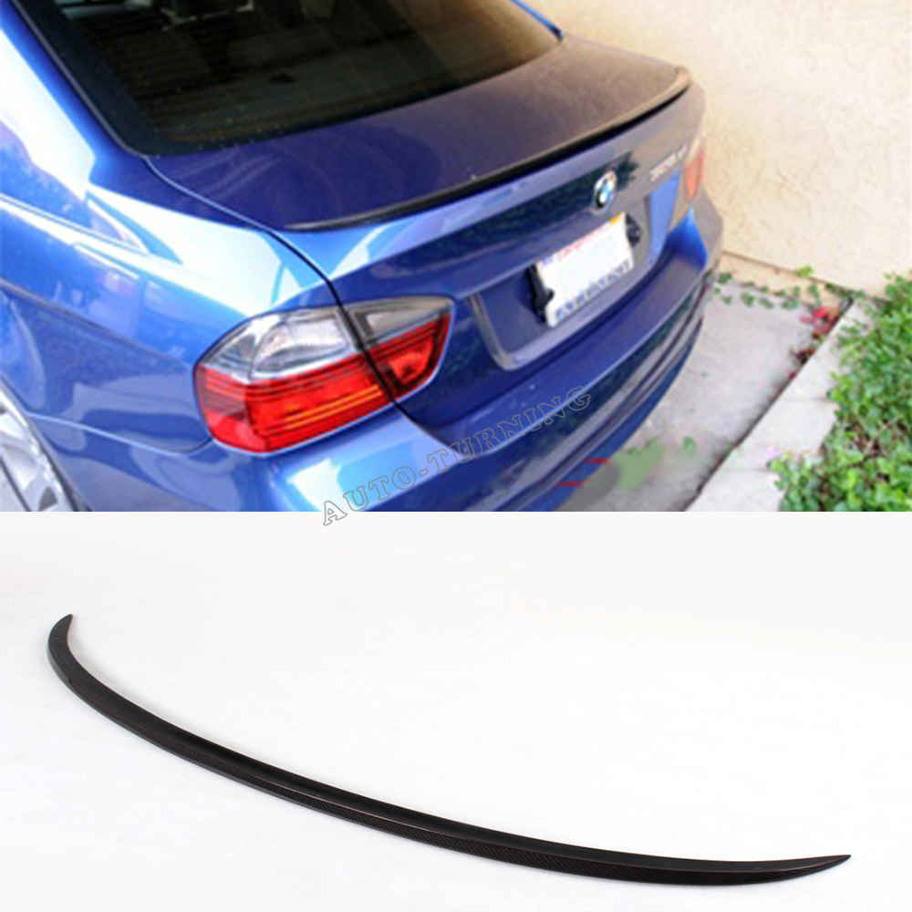 For BMW E90 M3 CARBON FIBER AUTO CAR TRUNK SPOILER For BMW E90 Sedan 4D 2005-2008